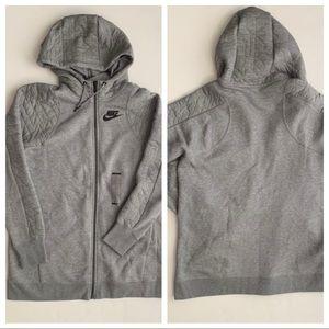 Nike Sportswear Full Zip Hoodie Large Gray